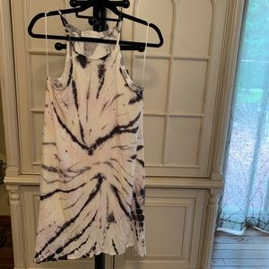 Vintage Havana ivory chiffon tie dye dress
